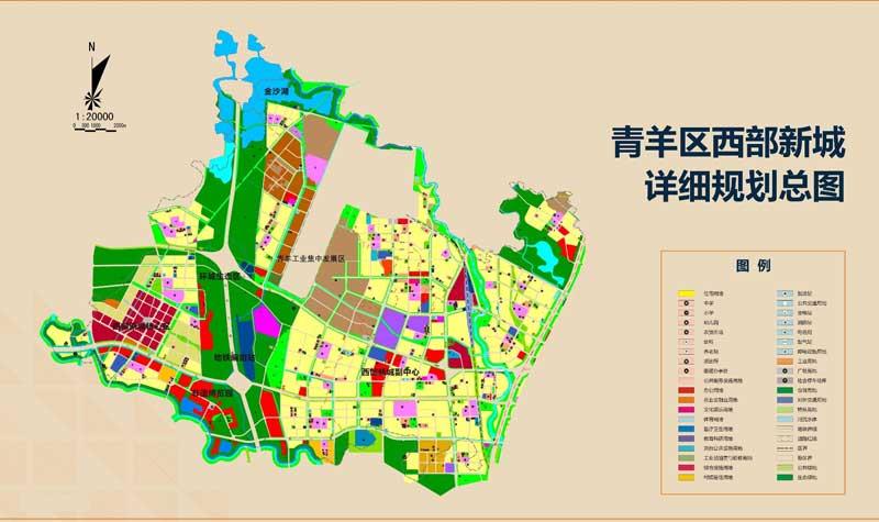 整个区域内划分核心商业区