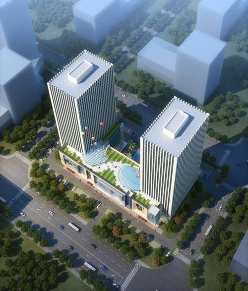 明发智汇城地处江北新城核心区,处在南京主城和老山生态风景区的交接