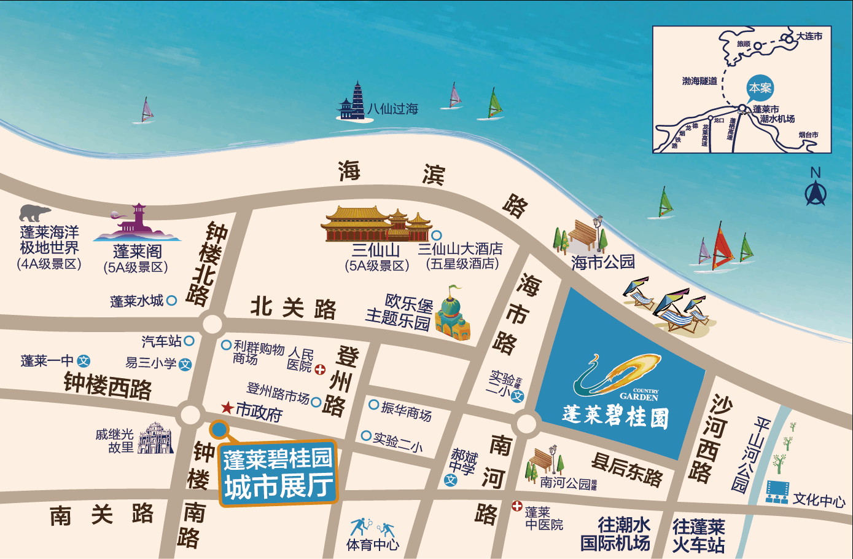 鹤山市恕碧桂园大道地图