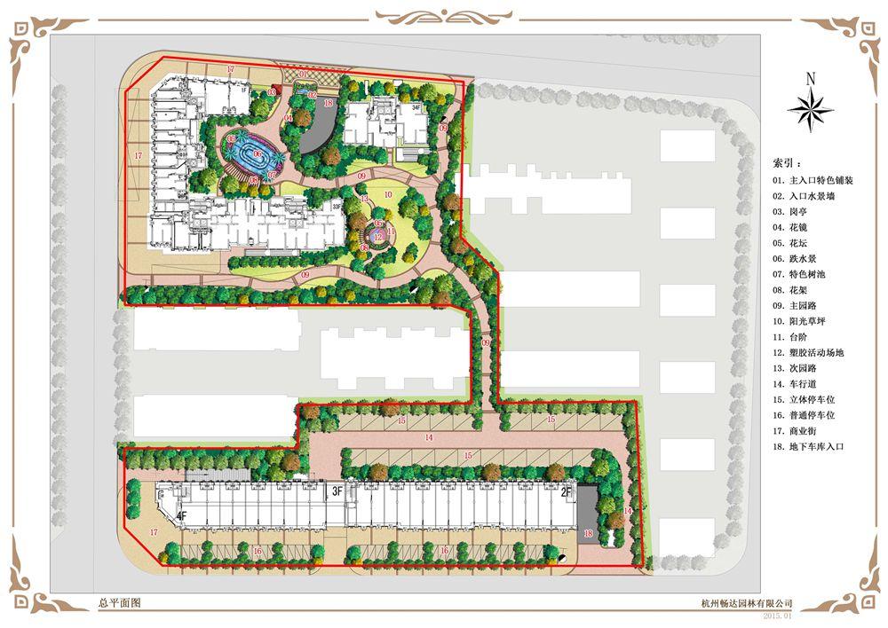 养老院学校校区幼儿园售楼处商业广场防腐木设计与图片
